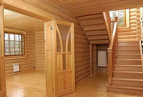 дом из бруса вид изнутри