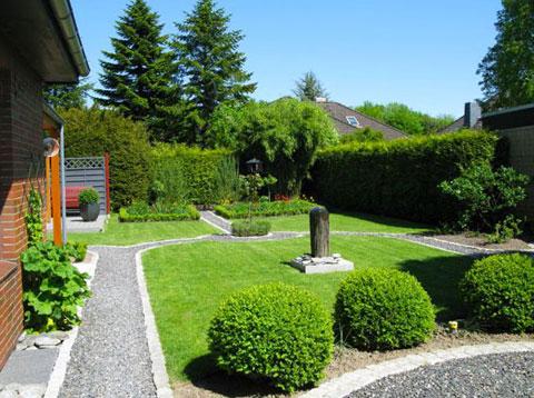ландшафтный дизайн двора частного дома