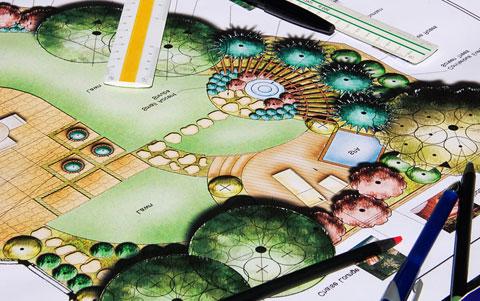 проект ландшафтного дизайна частного дома