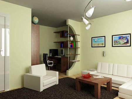 Зонирование комнаты легкими перегородками