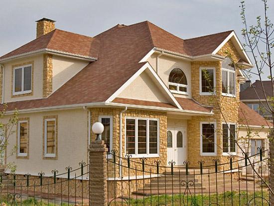 Варианты отделки фасадов зданий