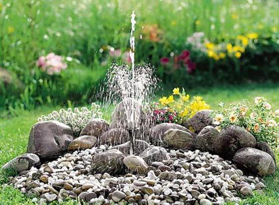 Сделать фонтан для сада своими руками