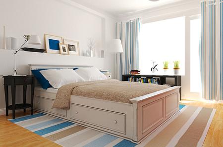 Дизайн маленькой спальни в скандинавском стиле