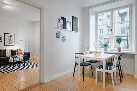 Окна в квартире в скандинавском стиле