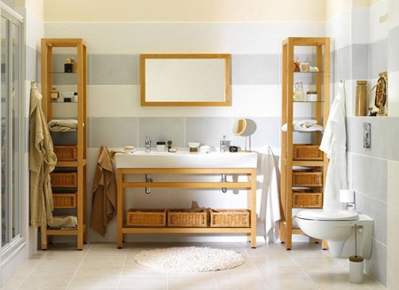 Способ оформления ванной комнаты