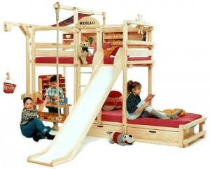 Спортивный уголок и двухъярусная кровать