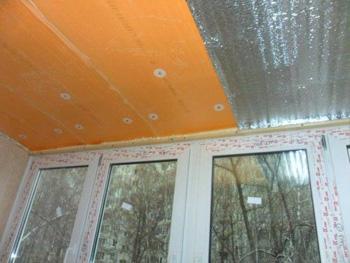 Второй слой утеплителя на потолке