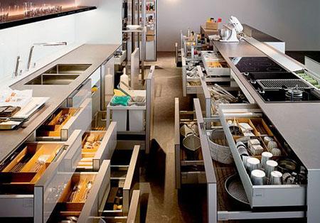 Функционал кухни в стиле хай тек