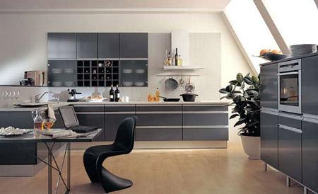 Мебель в кухне в стиле хай тек