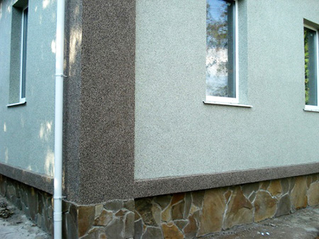 Штукатурка мозаичная на фасаде