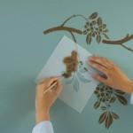 Трафареты для покраски стен — интересный прием в дизайне