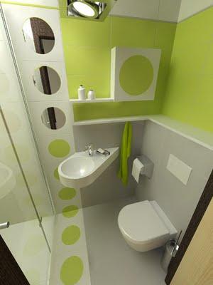 Белый и зеленый оттенки в интерьере ванной комнаты