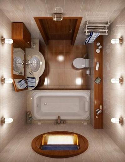 Интерьер ванной комнаты 3 м кв