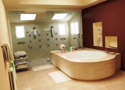 Дизайн большой ванной комнаты (фото)