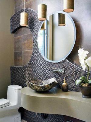 Оригинальный дизайн совмещенной ванной