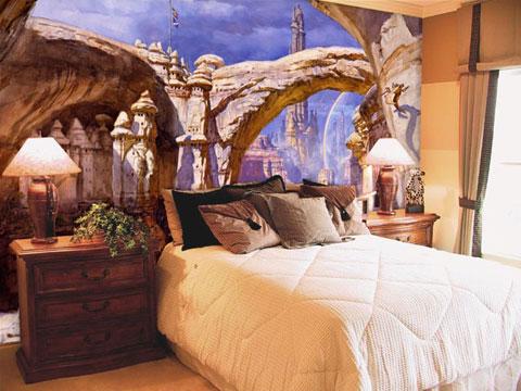 Роспись стен в интерьере стили