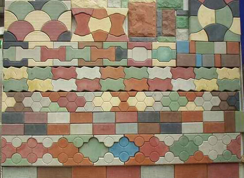 Разнообразие тротуарной плитки для дачи