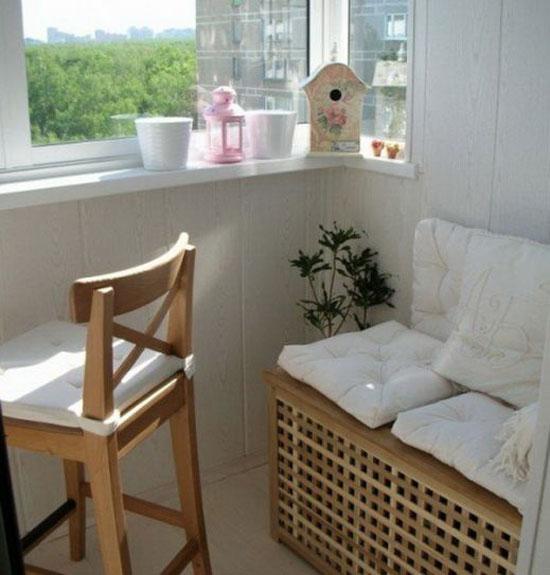 Уютный балкон можно создать только если приложить много усилий