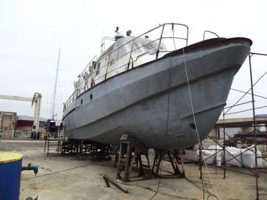 Покрытие днища корабля цинковым составом