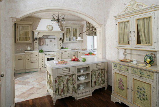 кухня прованс в итальянском стиле