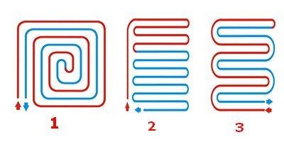 Схема расположения теплого пола на лоджии и балконе