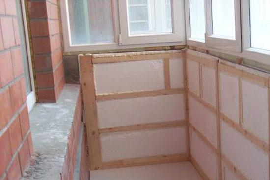 Пенопласт - теплоизоляционный материал для балкона