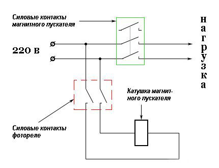 photocell connection diagram