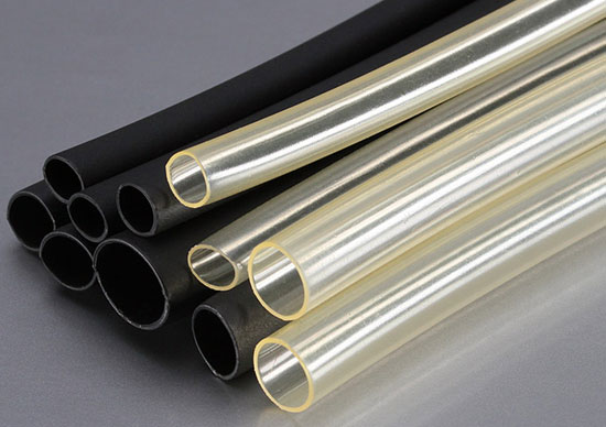 прозрачная и черная клеевые термоусадочные трубки