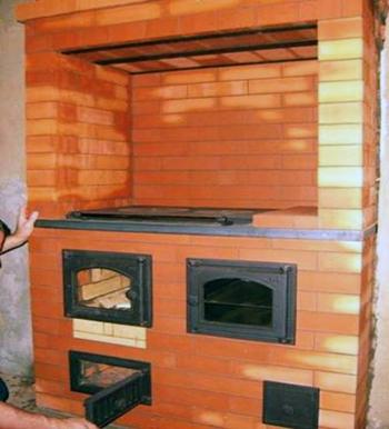Отопительно-варочная печь с духовкой