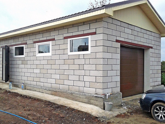 Расценка строительства гаража