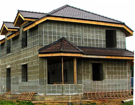 Дом из пеноблоков на фундаменте