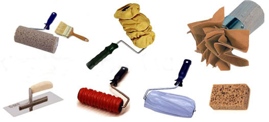 Инструменты для нанесения декоративной штукатурки