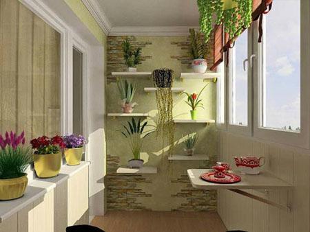 Лоджия - цветущий сад