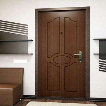 Отделка входной двери шпоном