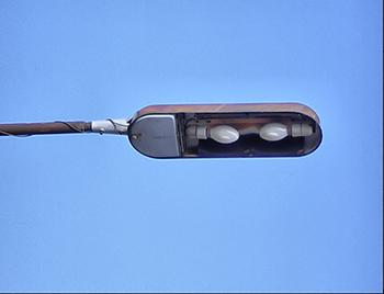 Ртутные лампы в уличном светильнике