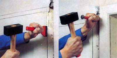 Строительные работы с помощью молотка и зубила