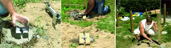 Способ крепления деревянной опоры