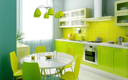 Белая штора для кухни