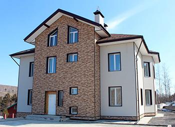 Дом с фиброцементной облицовкой