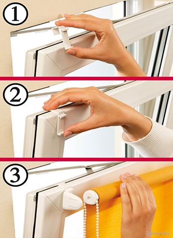 Как крепить рулонные шторы к стене, потолку или окну