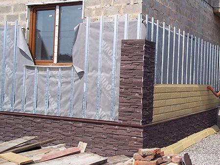 Монтаж пластиковых фасадных панелей
