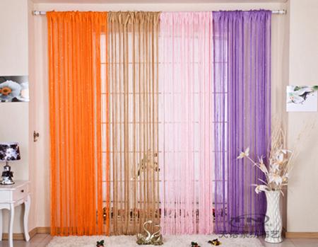Разноцветная штора кисея