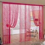 Современные нитяные шторы: как красиво повесить кисею