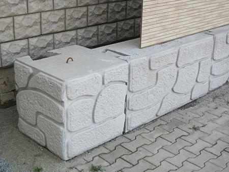 Блоки бетонные для подпорной стены