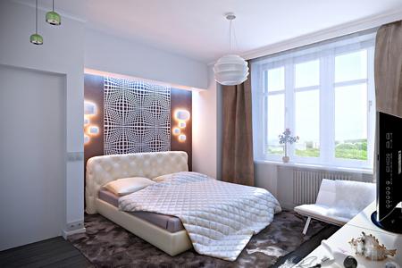 Интересные обои для спальни в современном стиле