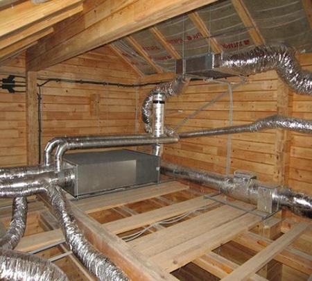 Монтаж воздуховодов в частном доме