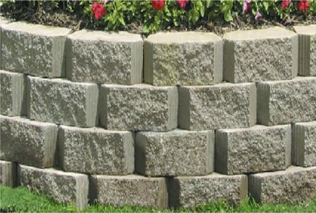 Подпорная стена из бетонных блоков