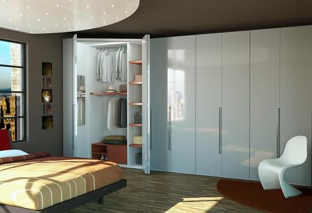 Шкаф-купе для спальни в современном стиле