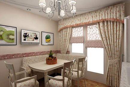 Шторы в стиле прованс на кухне