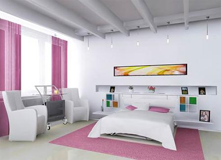 Современный стиль в спальне для женщины